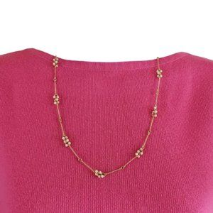 Avon Vintage Gold-Plated & Faux Pearl Necklace